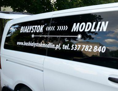 reklama na samochodach Białystok